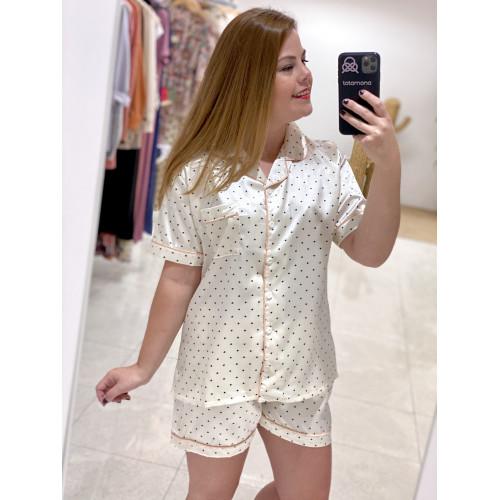 Pijama Cor   Beige