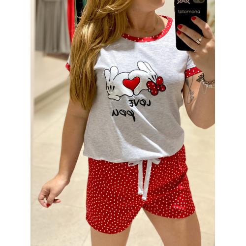 Pijama Topi Niña| Gris