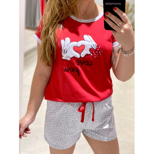 Pijama Topi Niña| Rojo