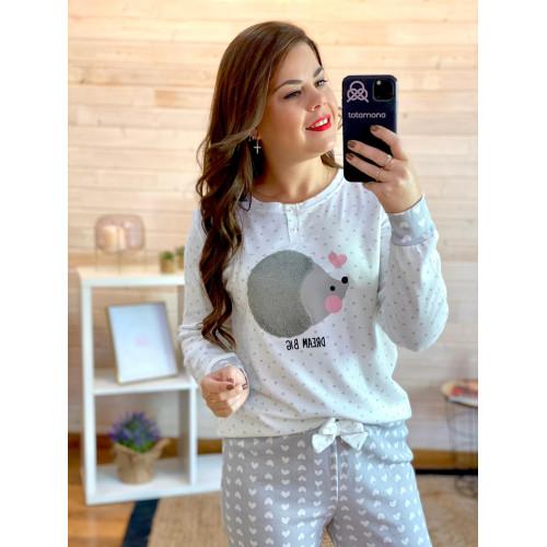 Pijama Erizo | gris