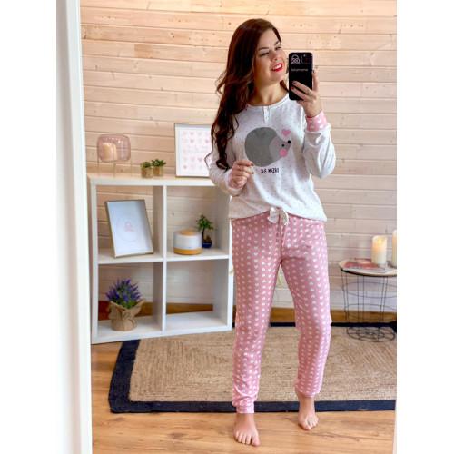 Pijama Erizo | rosa