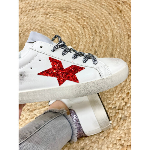 Zapatillas purpu star |Blanco