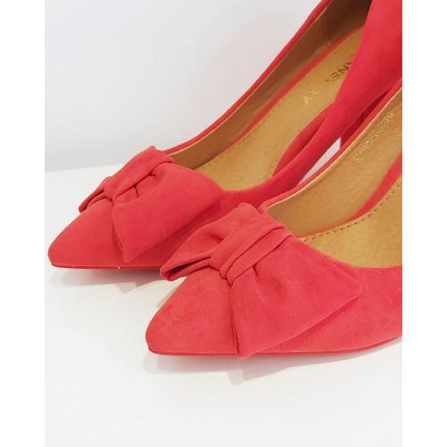 Zapato tacón lazo |Rojo