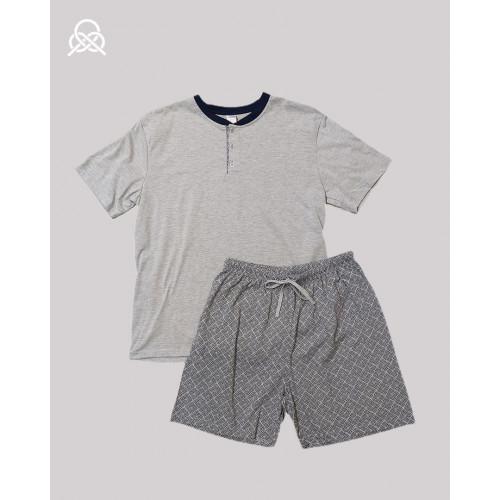 Pijama verano men |gris